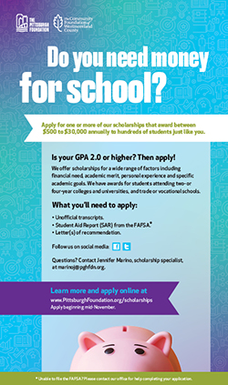 Need money for school? Learn how to apply for scholarships.