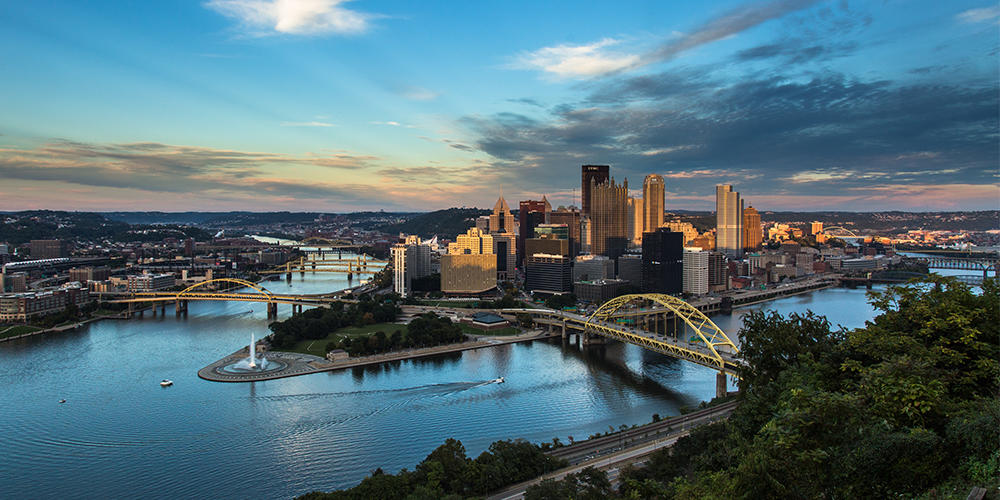 The iconic City of Pittsburgh skyline.