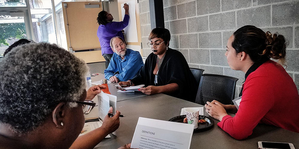 To generate ideas and reactions to the proposed Social Justice Fund, the design committee facilitated a community feedback session in Oct. 2017.