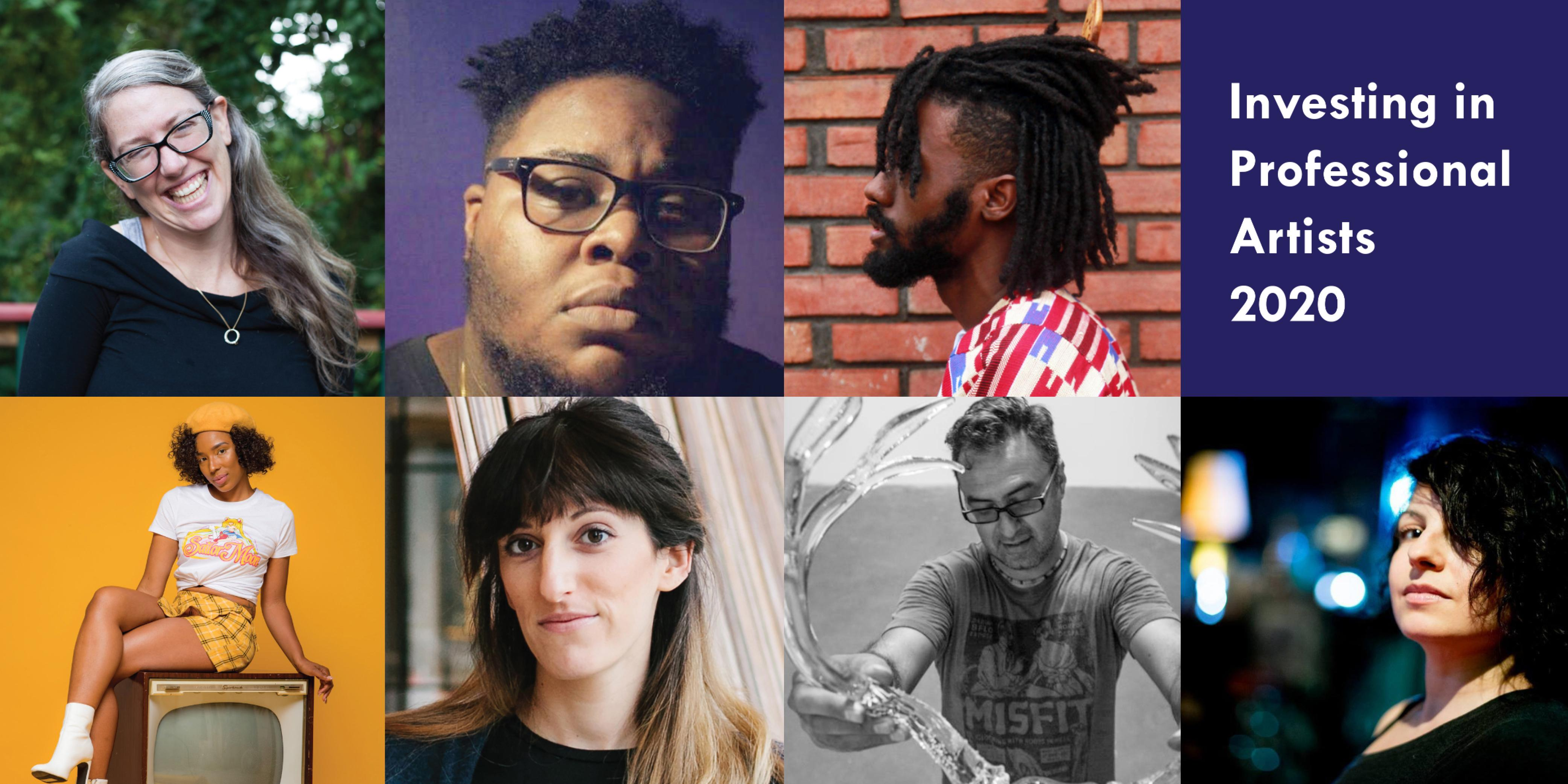 Images courtesy of the artists unless otherwise noted. Top, l -r: Lindsey Scherloum, Jari Bradley, Darnell Chambers; bottom, l -r: Mariah Torres (image by Chris Fox-Kelly of CFK Media), Rachel Mica Weiss (image by Jenifer Trahan), Jaime Guerrero (image by Raphael Cardenas), Pearlann Porter: (image by Aaron Jackendoff).