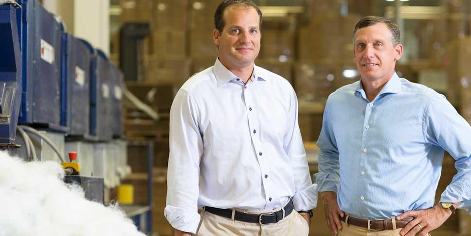 Blake Ruttenberg (left), executive vice president of American Textile,  and his brother Lance, the company's CEO, have made philanthropy a priority for their family and their business.