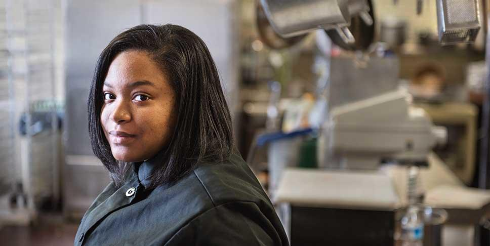 """After a year at CCAC, I want to transfer to a university,"" says 17-year-old Taysja Petty, who began considering her career options while working in Auberle's culinary program as a participant in the Learn and Earn Summer Youth Employment Program."